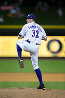 Winston-Salem Dash relief pitcher Zach Thompson (32) in action against the Buies Creek Astros at BB&T Ballpark on June 23, 2017 in Winston-Salem, North Carolina.  The Astros defeated the Dash 3-0.  (Brian Westerholt/Four Seam Images)