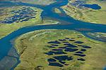 Kongakut River and permafrost, Arctic National Wildlife Refuge, Alaska, USA