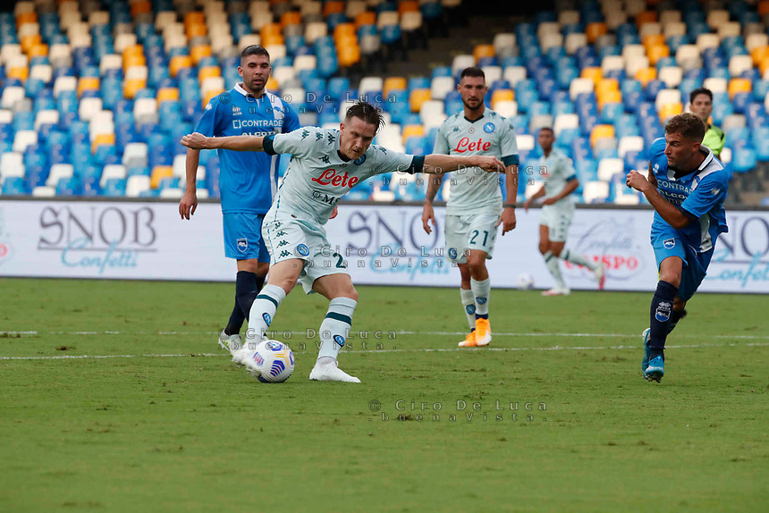 Piotr Zielinski during a friendly match Napoli - Pescara  at Stadio San Paoli in Naples