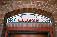 Nederland  Amsterdam -  2018.  Telegraaf kantoor in de Beurs van Berlage.  Foto Berlinda van Dam / Hollandse Hoogte