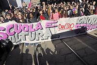 """- Milano, 8 marzo 2017, sciopero mondiale delle donne, manifestazione """"Non una di meno"""" <br /> <br /> - Milan, March 8, 2017,  worldwide women strike, demonstration """"Not one less"""""""