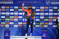 SPEEDSKATING: HEERENVEEN: 17-01-2021, IJsstadion Thialf, ISU European Speed Skating Championships, Antonette de Jong, ©photo Martin de Jong SPEEDSKATING: HEERENVEEN: 17-01-2021, IJsstadion Thialf, ISU European Speed Skating Championships, ©photo Martin de Jong