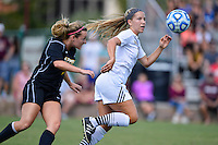 Texas State forward Brooke Ramsey (27) goes after the ball during NCAA soccer game, Sunday, October 05, 2014 in San Marcos, Tex. Texas State leads 1-0 at the halftime. (Mo Khursheed/TFV Media via AP Images)