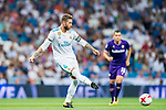 Sergio Ramos of Real Madrid in action during the Santiago Bernabeu Trophy 2017 match between Real Madrid and ACF Fiorentina at the Santiago Bernabeu Stadium on 23 August 2017 in Madrid, Spain. Photo by Diego Gonzalez / Power Sport Images