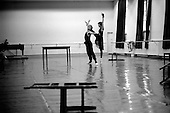 """St. Petersburg, Russia  .1998.Ylyana Lopatkina rehearses for an up-coming performance of """"The Young Man and Death"""" a production by Francois Andrei at the Mariinsky Theater.."""