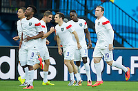 Wayne Rooney of England warms up with his team mates