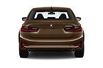 Straight rear view of a 2019 BMW 3 Series Sport PHEV 4 Door Sedan