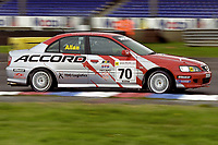 2001 British Touring Car Championship #70 Dave Allan. Honda Accord. Synchro Motorsport.