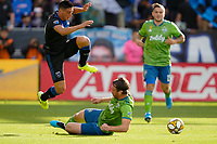 SAN JOSE, CA - SEPTEMBER 30: Cristian Espinoza #10 of the San Jose Earthquakes during a Major League Soccer (MLS) match between the San Jose Earthquakes and the Seattle Sounders on September 30, 2019 at Avaya Stadium in San Jose, California.