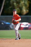 Gunnar Henderson during the WWBA World Championship at the Roger Dean Complex on October 19, 2018 in Jupiter, Florida.  Gunnar Henderson is a shortstop from Selma, Alabama who attends John T. Morgan Academy and is committed to Auburn.  (Mike Janes/Four Seam Images)
