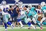 Dallas Cowboys quarterback Dak Prescott (4) in action during the pre-season game between the Miami Dolphins and the Dallas Cowboys at the AT & T stadium in Arlington, Texas.