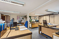 BNPS.co.uk (01202 558833)<br /> Pic: KnightFrank/BNPS<br /> <br /> Pictured: Offices.<br /> <br /> An impressive family home built in an 'industrial scale' oast house with multiple circular rooms is on the market for £1.6m.<br /> <br /> The property is one half of a massive former six roundel oast house that has been expanded and renovated by the current owners.<br /> <br /> Estate agents Knight Frank say the roundels are far larger than normally seen in most oast houses, which means the property has quirky character while also being a practical family home.<br /> <br /> This six-bedroom house is in the picturesque Kent countryside, but just 1.5 miles from the village of Hadlow and ten minutes' drive from the bigger town of Tonbridge.