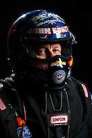 Feb 8, 2017; Pomona, CA, USA; NHRA funny car driver John Force poses for a portrait during media day at Auto Club Raceway at Pomona. Mandatory Credit: Mark J. Rebilas-USA TODAY Sports