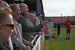 Shildon fans urging their team on. Whitby Town 3 Shildon 2, FA CUP 1st Round Qualifying, 15th September 2007.
