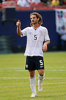 Kyle Beckerman (5) of the United States (USA). Mexico (MEX) defeated the United States (USA) 5-0 during the finals of the CONCACAF Gold Cup at Giants Stadium in East Rutherford, NJ, on July 26, 2009.