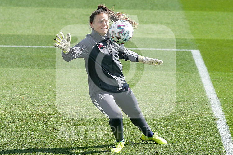 First official match and first classic in the history of women's Real Madrid.<br /> Real Madrid's Yohana Gomez during Spanish Female League match. October 4,2020. (ALTERPHOTOS/Acero)