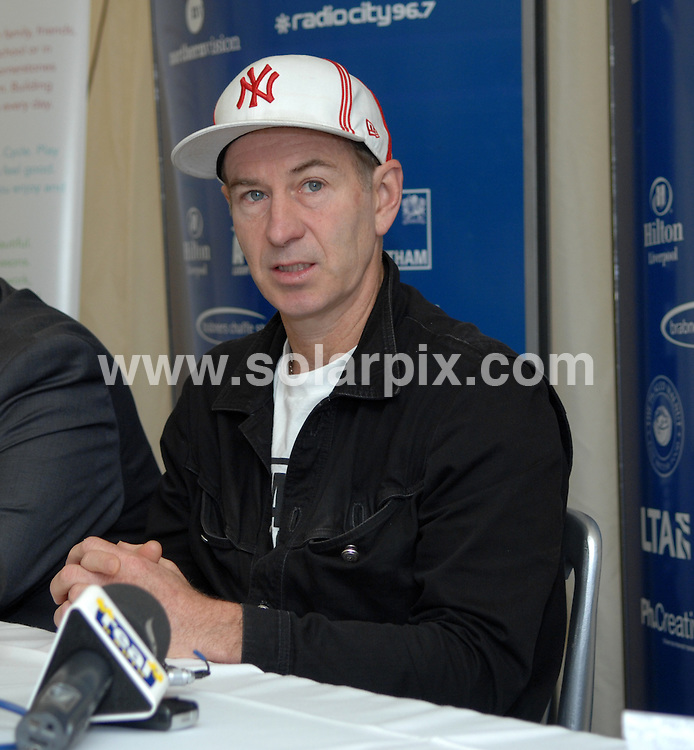 **ALL ROUND PICTURES FROM SOLARPIX.COM**.**WORLDWIDE SYNDICATION RIGHTS**.John McEnroe, Martina Hingis and Amy Askew at Liverpool tennis tournament, Calderstones Park, Liverpool, UK.18 June 2010.This pic: John McEnroe..JOB REF: 11516 SGD     DATE: 18_06_2010.**MUST CREDIT SOLARPIX.COM OR DOUBLE FEE WILL BE CHARGED**.**MUST NOTIFY SOLARPIX OF ONLINE USAGE**.**CALL US ON: +34 952 811 768 or LOW RATE FROM UK 0844 617 7637**