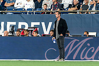 FOXBOROUGH, MA - SEPTEMBER 11: New York City FC coach Ronny Deila during a game between New York City FC and New England Revolution at Gillette Stadium on September 11, 2021 in Foxborough, Massachusetts.