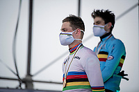 golden medal & rainbow jersey for Mathieu Van der Poel (NED/Alpecin-Fenix)<br /> <br /> UCI 2021 Cyclocross World Championships - Ostend, Belgium<br /> <br /> Elite Men's Race<br /> <br /> ©kramon