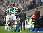 Scott brown and Mikael Lustig celebrate at full time