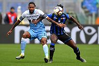 Wallace of Lazio and Duvan Zapata of Atalanta compete for the ball <br /> Roma 5-5-2019 Stadio Olimpico Football Serie A 2018/2019 SS Lazio - Atalanta <br /> Foto Andrea Staccioli / Insidefoto
