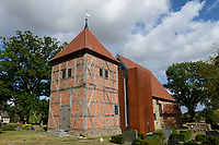 GERMANY, church in village / DEUTSCHLAND, Mecklenburg-Vorpommern, Dorf Broock, evangelische Kirche mit Friedhof