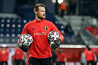 24th March 2021; Leuven, Belgium; Simon Mignolet goalkeeper of Belgium warms up during the World Cup Qatar 2022 Qualifiers Match between Belgium and Wales on March 24, 2021 in Leuven, Belgium