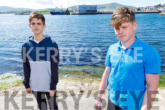 James Greaney (left) and Jimí Fenton (right)  from Dingle whose company Skyscraper works out of the Dingle Hub. The company sources and makes custom-made, sustainable products for business, has its own sportswear brand and also does assessments for businesses.