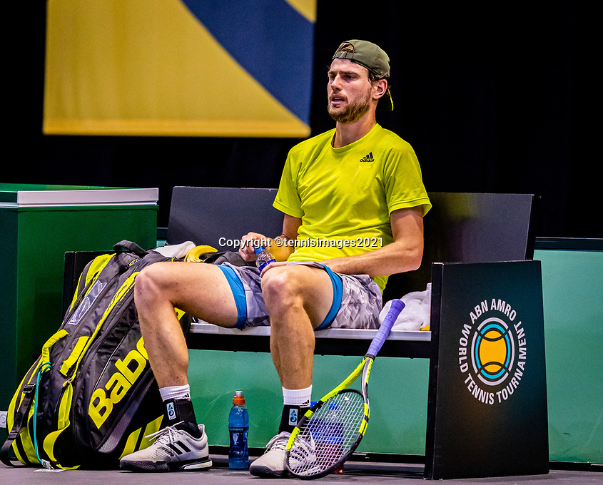 Rotterdam, The Netherlands, 27 Februari 2021, ABNAMRO World Tennis Tournament, Ahoy, Qualyfying match: Maxime Cressy (USA)  <br /> Photo: www.tennisimages.com/henkkoster