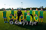 Tadgh McMullen who is hosting 'Gladiators' a mixed ability Soccer Team in Ireland training in KDL pitch on Monday evening. Kneeling l to r: Mark O'Sullivan, Paul Ruane, Patrick Donovan, Dylan Knightley and Helena Teixeira. Back l to r: Cormac Fleming, Colin Kerins, Chloe Donovan, Chantelle O'Regan, Darren Kenny, Dylan Murphy and Robert Flahive.