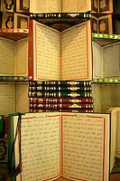 Korans for sale at the Sahaflar book market in Beyazit, Istanbul, Turkey