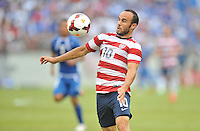Landon Donovan (10) of the USMNT. The USMNT defeated El Salvador 5-1 at the quaterfinal game of the Concacaf Gold Cup, M&T Stadium, Sunday July 21 , 2013.