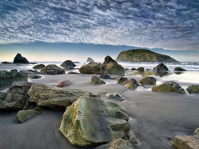 Beach and clouds. Harris Beach State Park, Oregon