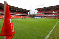Illustration picture shows Stade Maurice Dufrasne before a female soccer game between Standard Femina de Liege and KAA Gent Ladies on the second match day of the 2021 - 2022 season of Belgian Scooore Womens Super League , Saturday 28 th of August 2021  in Liege, Belgium . PHOTO SPORTPIX | SEVIL OKTEM
