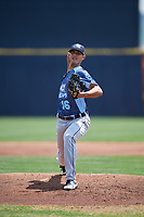 West Michigan Whitecaps starting pitcher Wilkel Hernandez (16) delivers a pitch during a game against the Quad Cities River Bandits on July 23, 2018 at Modern Woodmen Park in Davenport, Iowa.  Quad Cities defeated West Michigan 7-4.  (Mike Janes/Four Seam Images)