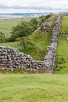 UK, England.  Hadrian's Wall between Gilsland and Steel Rigg, Northumberland.