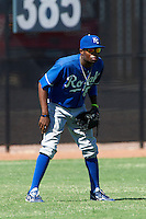 Kansas City Royals minor league outfielder Marsalis Holloway #80 during an instructional league game against the Seattle Mariners at the Peoria Sports Complex on October 2, 2012 in Peoria, Arizona. (Mike Janes/Four Seam Images)