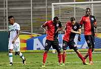CALI - COLOMBIA, 26-07-2017: Jonathan Perez (#26) jugador de Cucuta Deportivo celebra después de anotar un gol a Deportivo Cali durante partido de vuelta por los octavos de final de la Copa Águila 2017 jugado en el estadio Palmaseca de la ciudad de Palmira. / Jonathan Perez (#26) player of Cucuta Deportivo celebrates after scoring a goal to Deportivo Cali during second leg match for the Eighth finals of the Aguila Cup 2017 played at Palmaseca stadium in Palmira city. Photo: VizzorImage/ Nelson Rios / Cont