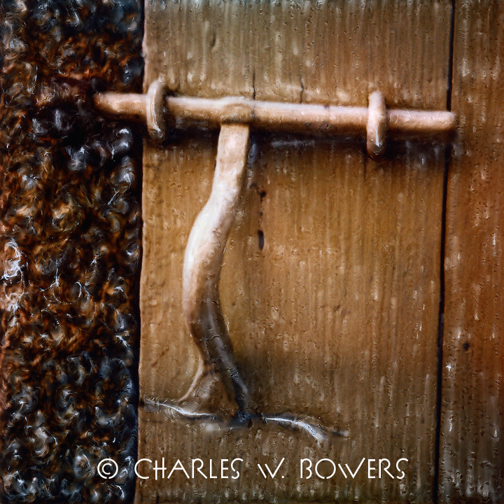 Wonderful old world style latch for the garden gate.<br />