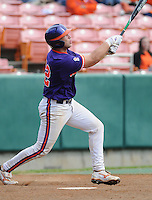 October 25, 2009: Spencer Kieboom of the Clemson Tigers in an intra-squad Orange and Purple scrimmage game at the end of fall practice at Doug Kingsmore Stadium in Clemson, S.C. Photo by: Tom Priddy/Four Seam Images