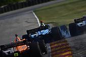 #59: Max Chilton, Carlin Chevrolet,#27: Alexander Rossi, Andretti Autosport Honda, contact