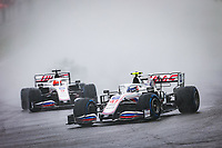 29th August 2021; Spa Francorchamps, Stavelot, Belgium: FIA F1 Grand Prix of Belgium,  race day: 47 SCHUMACHER Mick (ger), Haas F1 Team VF-21 Ferrari during the formation laps in heavy rain before cancellation of the race due to standing water