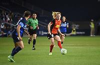 Kansas City, Kansas - Saturday April 16, 2016: Western New York Flash midfielder Samantha Mewis (5) kicks the ball against FC Kansas City at Children's Mercy Park. Western New York won 1-0.