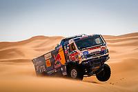 5th January 2021; Dakar Rally stage 3; 509 Mardeev Airat (rus), Svistunov Dmitriy (rus), Galiautdinov Akhmet (rus), Kamaz, Kamaz - Master, Camion, Truck, action during the 3rd stage of the Dakar 2021 between Wadi Al Dawasir and Wadi Al Dawasir, in Saudi Arabia on January 5, 2021