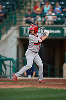 Peoria Chiefs Brandon Riley (5) during a Midwest League game against the Fort Wayne TinCaps on July 17, 2019 at Parkview Field in Fort Wayne, Indiana.  Fort Wayne defeated Peoria 6-2.  (Mike Janes/Four Seam Images)