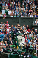 24-06-13, England, London,  AELTC, Wimbledon, Tennis, Wimbledon 2013, Day one, Umpire on center court<br /> )<br /> <br /> <br /> <br /> Photo: Henk Koster