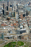 Aerial of downtown Denver.  May 2013.