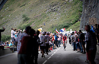 Suisse Champion Sébastien Reichenbach (SUI/Groupama - FDJ) 2 km from the finish in Val thorens<br /> <br /> shortened stage 20: Albertville to Val Thorens(59km in stead of the original 130km due to landslides/bad weather)<br /> 106th Tour de France 2019 (2.UWT)<br /> <br /> ©kramon