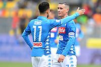 Adam Ounas and Jose Callejon of Napoli during the Serie A 2018/2019 football match between Frosinone and SSC Napoli at stadio Benito Stirpe, Frosinone, April 28, 2019 <br /> Photo Andrea Staccioli / Insidefoto