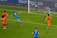 AMSTERDAM, 13-06-2021 Johan Cruyff Arena, Group stage of EURO2020 between Netherlands and Ukraine.  Ukraine player Roman Yaremchuk scoring the 2-2<br /> Photo Pro Shots / Insidefoto <br /> ITALY ONLY